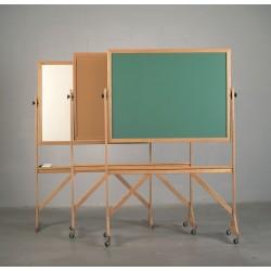 Ghent - C4 - Wood Reversible Boards Bulletin Board Casters, 4 PK