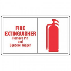 Accuform Signs - LFXG513VSP - Info Sign Fire Extg 3 1/2x5 Sa, Pk