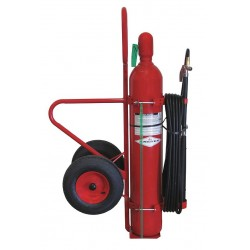 Amerex - 333 - Carbon Dioxide, BC Class Wheeled Fire Extinguisher with 50 lb. Capacity and 44 sec. Discharge Time