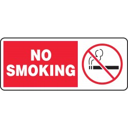Accuform Signs - MSMG500VS - No Smoking Sign, 7 x 17In, R and BK/WHT