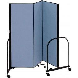 Screenflex - CFSL403 BLUE - 5 ft. 9 in. x 4 ft., 3-Panel Portable Room Divider, Blue