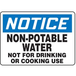 Accuform Signs - MCAW806VS - Notice Sign Non-potable Water 7x10 Self Adhesive Accuform Mfg Inc, Ea