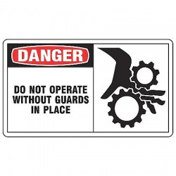 Accuform Signs - LEQM019VSP - Dngr Sign Do Not Operate 3 1/2, Pk