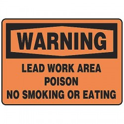 Accuform Signs - MCAW302VP - Warning Sign Lead Work Area 7x10 Plastic Ansi Z535.2 - 1998 Accuform Mfg Inc, Ea