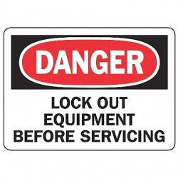 Accuform Signs - MLKT007VP - Danger Sign Lockout Equipment 7x10 Plastic Regusafe Ansi Z535.2 - 1998 Accuform Mfg Inc, Ea