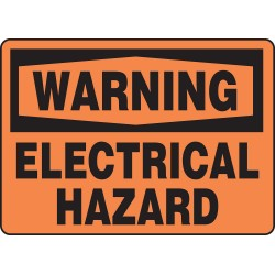 Accuform Signs - MELC329VS - Warning Sign, 10 x 14In, BK/ORN, ENG, Text
