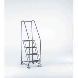 Ballymore / Garlin - H52620X - Garlin Spring Loaded Casters Rolling Ladder 5 Step Knock Down 20 In Deep Top Step Expanded Metal Steel Gray, Ea