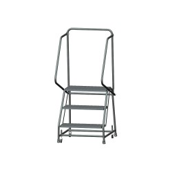 Ballymore / Garlin - H326X - 3-Step Rolling Ladder, Expanded Metal Step Tread, 58-1/2 Overall Height, 450 lb. Load Capacity