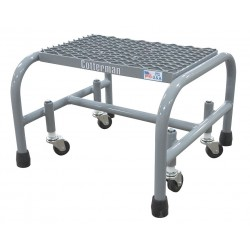 Cotterman - 1001N1818A1E10B3C1P1 - Steel Rolling Platform, 12 Overall Height, 450 lb. Load Capacity, Number of Steps: 1