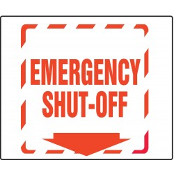 Accuform Signs - PSP317 - Emergency Sign, 6 x 8-1/2In, R/WHT, PS, ENG