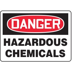 Accuform Signs - MCHL091VA - Accuform MCHL091VA Safety Sign, Danger - Hazardous Chemicals, 7 x 10, Aluminum