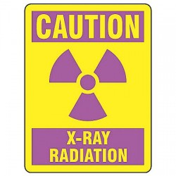 Accuform Signs - MRAD702VS - Caution Radiation Sign, 14 x 10In, ENG