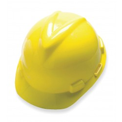 MSA - 477484 - Front Brim Hard Hat, 4 pt. Ratchet Suspension, Yellow, Hat Size: 7 to 8-1/2