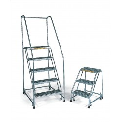 Ballymore / Garlin - SS103214G - Garlin Locking Step Rolling Ladder 10 Step Grip Strut Stainless Steel, Ea