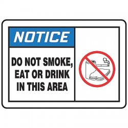 Accuform Signs - LSMK805VSP - Safety Label, Instruction, 3-1/2 In. H, PK5