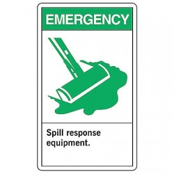 Accuform Signs - LCHL900VSP - Info Sign Spill Response 5x3 1, Pk