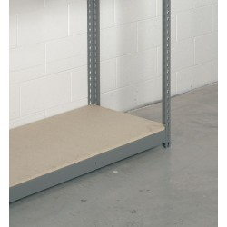 WB Manufacturing - 5/8 SHELVING 96X24 - 96 x 24 Particle Board Decking with 300 lb. Load Capacity
