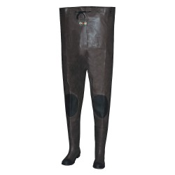 Pro Line - 2012 12 - Men's Plain Toe, Rubber Insulated Chest Waders, Brown/Black, Sz 12
