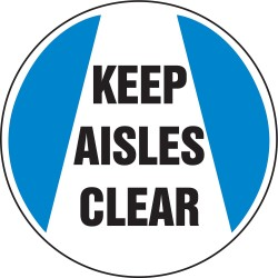 Accuform Signs - MFS215 - Floor Sign Keep Aisles Clear 8 In Adhesive, Ea