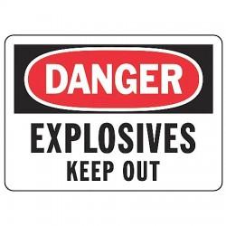 Accuform Signs - MCHL082VS - Danger Sign Explosives 7x10 Self Adhesive Regusafe Ansiz535.2-1998 Accuform Mfg Inc, Ea