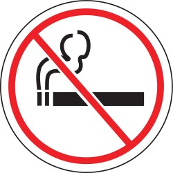 Accuform Signs - MFS222 - Floor Sign No Smoking 8 In Adhesive, Pk