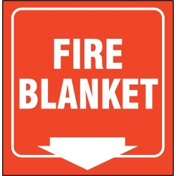 Accuform Signs - PSP621 - Fire Blanket Sign, 6 x 8-1/2In, WHT/R, PS