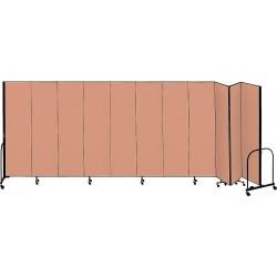 Screenflex - CFSL4011 BEIGE - 20 ft. 5 in. x 4 ft., 11-Panel Portable Room Divider, Beige