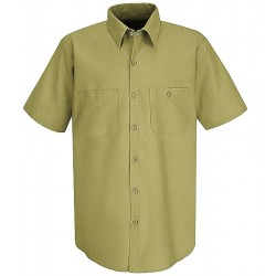 VF Corporation - SP24KKSS3XL - Button Front Shirt Short Sleeve Industrial Grade 3Xl Khaki 4.25 Oz Polyester Cotton Vf Imagewear, EA