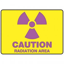 Accuform Signs - MRAD501VP - Caution Sign Radiation Area 7x10 Plastic 29 Cfr 1910.1096 Accuform Mfg Inc, Ea