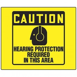 Accuform Signs - PSP476 - Caution Sign, 8 x 8In, BK/YEL, PS, ENG