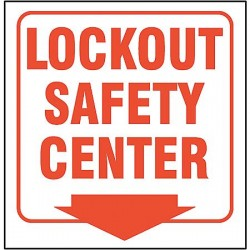 Accuform Signs - PSP319 - Lockout Tagout, No Header, Plastic, 6 x 8-1/2, With Mounting Holes, V-Shaped, Not Retroreflective