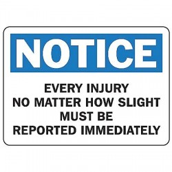 Accuform Signs - MFSD801VA - Accident Prevention, Notice, Aluminum, 10 x 14, With Mounting Holes, Not Retroreflective