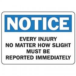 Accuform Signs - MFSD801VA - Notice Sign, 10 x 14In, BL and BK/WHT, AL