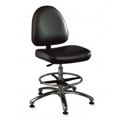 "Bevco Precision - 9051M BLACK VINYL - Vinyl ESD Task Chair with 17"" to 22"" Seat Height Range and 300 lb. Weight Capacity, Black"
