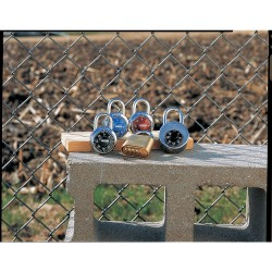 Master Lock - 1504D - Combination Padlock Combination 3/4 In Hx13/16 In Wx9/32 In Dia Red Master Lock Co., Ea