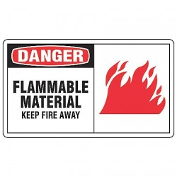 Accuform Signs - MCHL097VP - Danger Sign Flammable Material 7x10 Plastic 29 Cfr 1910.145 Accuform Mfg Inc, Ea