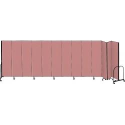 Screenflex - CFSL4013 MAUVE - 24 ft. 1 in. x 4 ft., 13-Panel Portable Room Divider, Mauve