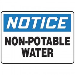 Accuform Signs - MCAW808VA - Potable Water, Notice, Aluminum, 7 x 10, With Mounting Holes, Not Retroreflective
