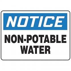 Accuform Signs - MCAW808VA - Notice Sign Non-potable Water 7x10 Aluminum Accuform Mfg Inc, Ea