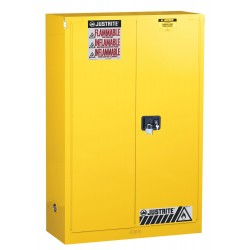 "Justrite - 893023 - 30 gal. Flammable Cabinet, 44"" x 43"" x 18"", Self-Closing Door Type"