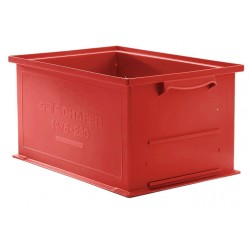 SSI Schaefer - 1462.191305RD1 - Straight Wall Container, Red, 5H x 19L x 13W, 1EA