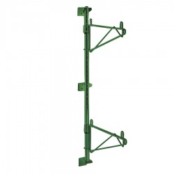 Metro (InterMetro) / Emerson - 1WS14K3 - 1-7/16 x 16-5/8 x 7-7/16 Steel Shelf Support Bracket-Wall/Post Mounting, Green; PK1