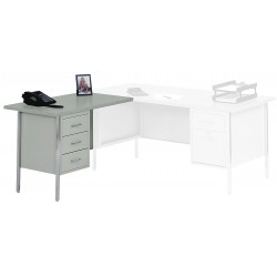 Edsal - LW4224GY - Left Desk Return, 42 x 29 x 24 In, Gray