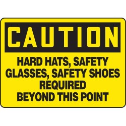 Accuform Signs - MPPE722VA - Caution Sign, 10 x 14In, BK/YEL, AL, ENG