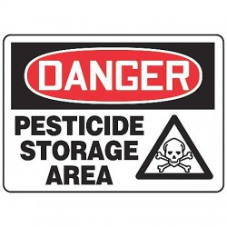 Accuform Signs - MCHL234VA - Danger Sign Pesticide Storage 10x14 Aluminum Regusafe Ansi Z535.2 Accuform Mfg Inc, Ea