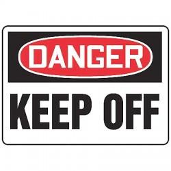 Accuform Signs - MADM058VP - Danger Sign Keep Off 10x14 Plastic Regusafe Ansiz535.2-1998 Accuform Mfg Inc, Ea