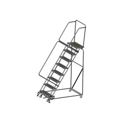 Ballymore / Garlin - WA083214R - 8-Step Slope Lockstep Rolling Ladder, Rubber Mat Step Tread, 113 Overall Height, 450 lb. Load Capac