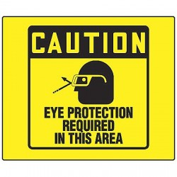 Accuform Signs - PSP471 - Caution Sign, 8 x 8In, BK/YEL, PS, ENG
