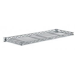 Metro (InterMetro) / Emerson - 1236CSNC - 36 x 12 x 1-1/4 Steel Cantilever Shelf, Silver; PK1