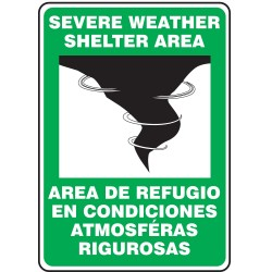 Accuform Signs - SBMFEX524VS - Evacuation, Assembly or Shelter, No Header, Vinyl, 14 x 10, Adhesive Surface, Not Retroreflective